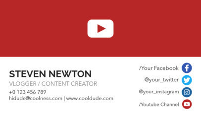 Business Card Design Template for Content Creators 118