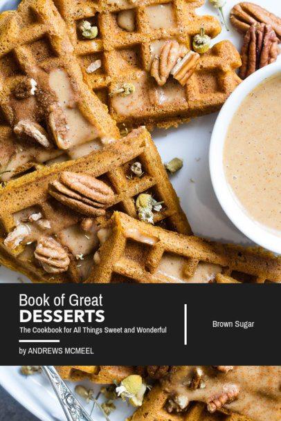 Dessert Cookbook Cover Maker 908c