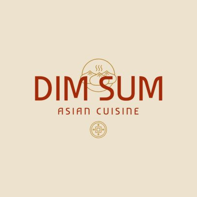 Chinese Food Logo Maker for an Asian Cuisine Place 1668d