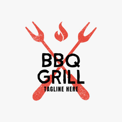 BBQ Grill Logo Maker 1674