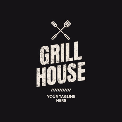 Grill House Logo Maker 1675