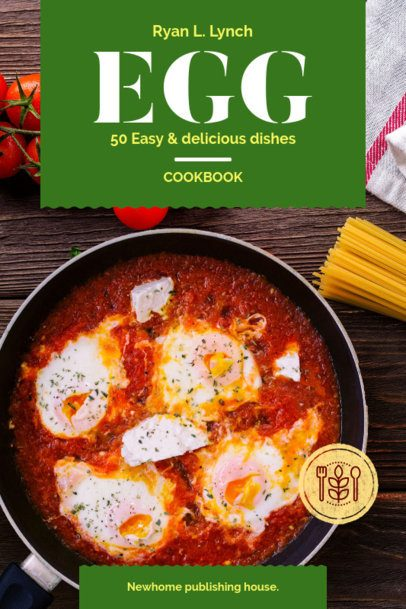 Cookbook Cover Template for Eggs Recipes 909d