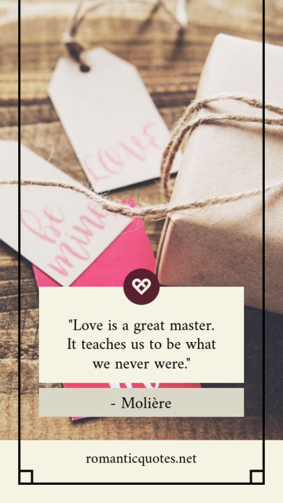Instagram Story Maker for a Romantic Valentine's Day Quote 1045e
