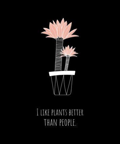 Plants T-Shirt Design Template 741a