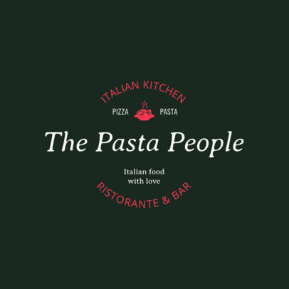 Restaurant Logo Maker for a Pasta Restaurant 1661c