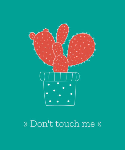 T-Shirt Design Maker with Cactus Illustration 741b