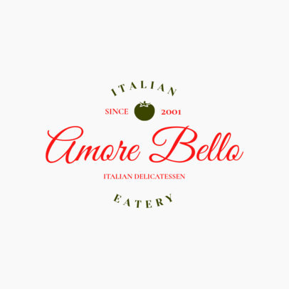 Restaurant Logo Maker for an Italian Food Place 1661e