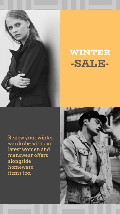 Winter Sale Instagram Story Template 967a