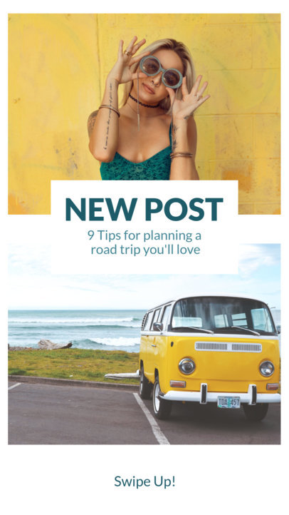 Instagram Story Template for a Road Trip Post 943