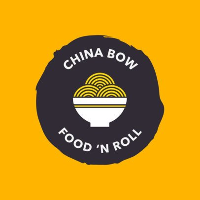 Chinese Restaurant Logo Maker with Chinese Bowl Graphic 1665d