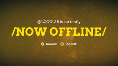 Offline Twitch Account Banner Maker with a Minimalistic Design 979b