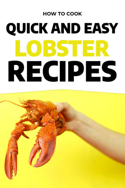 Lobster Recipes Book Cover Maker 917a