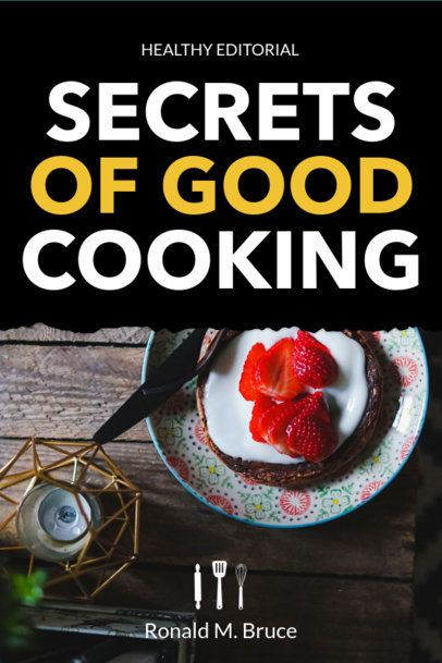 Book Cover Maker for a Secrets of Cooking Book 917e