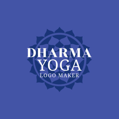 Dharma Yoga Logo Design Maker 1369d