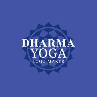 Dharma Yoga Logo Design Maker 1369d