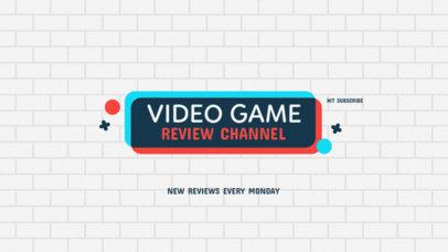 Youtube Banner Template for Gamer Channels 50e