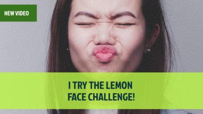 YouTube Thumbnail Maker for a Challenge Vlog 904e