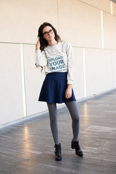 Sweater Mockup of a Pretty Woman Posing 18266
