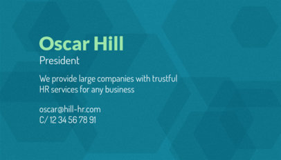 Business Card Template for Human Resources Services 1035d