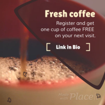 Instagram Video Maker for a Coffee Shop Promo Video 1032-807c