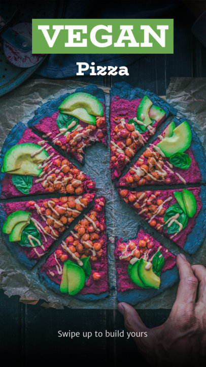Instagram Story Template for Vegan Foodies 598b