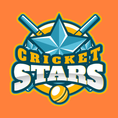 All-Star Cricket Team Logo Maker 1652c