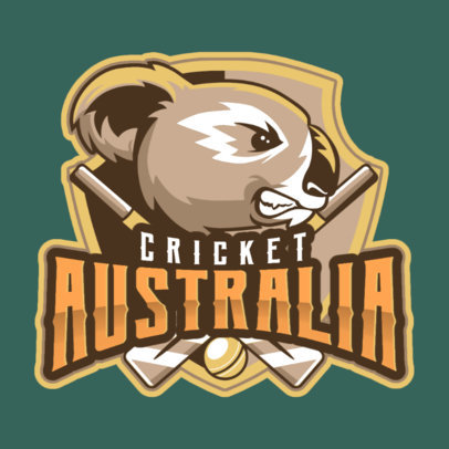 Cricket Logo Template with Koala Graphics 1652d