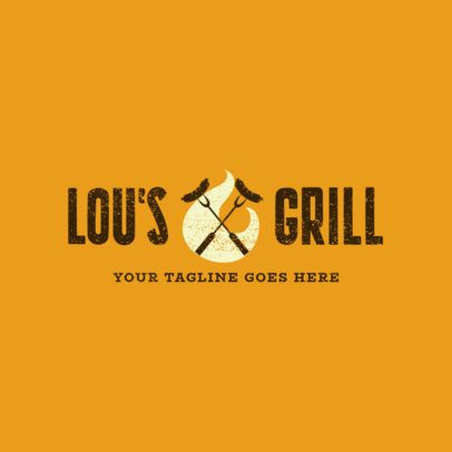 Restaurant Logo Maker for a Grill Restaurant 1676b