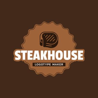Steakhouse Logo Maker with Steak Icon 1677e
