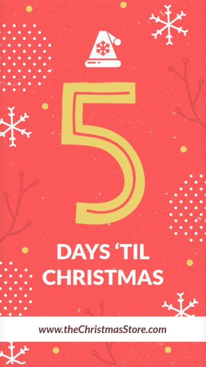 Instagram Story Maker for a Holidays Countdown 1001