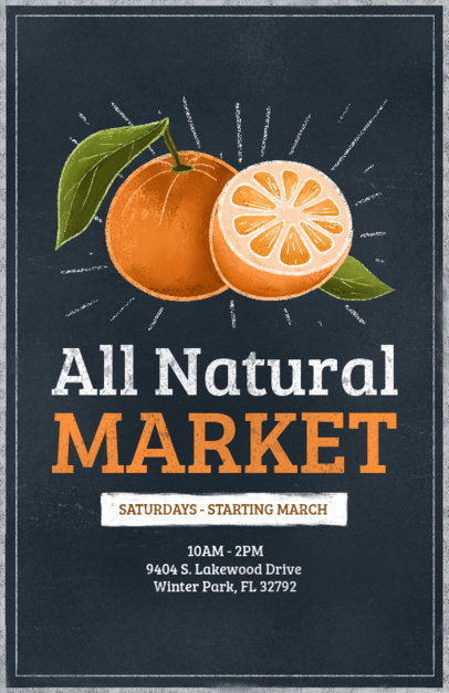 Natural Products Market Flyer Maker 265b