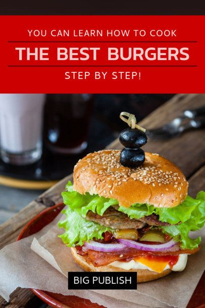 Book Cover Maker for a Burgers Recipe Book 910b