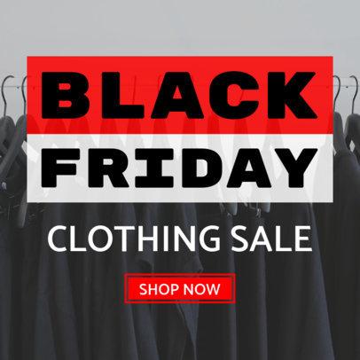 Clothing Sale Banner Maker for Black Friday 748c