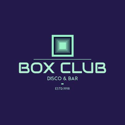 Disco and Bar Logo Maker 1681a