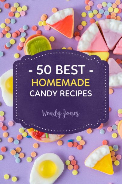 Candy Recipe Book Cover Maker 918b