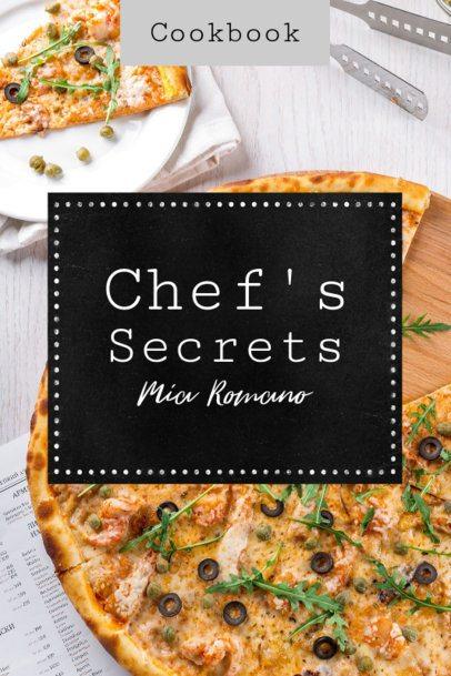 Cookbook Cover Template with Chef's Secrets 918e
