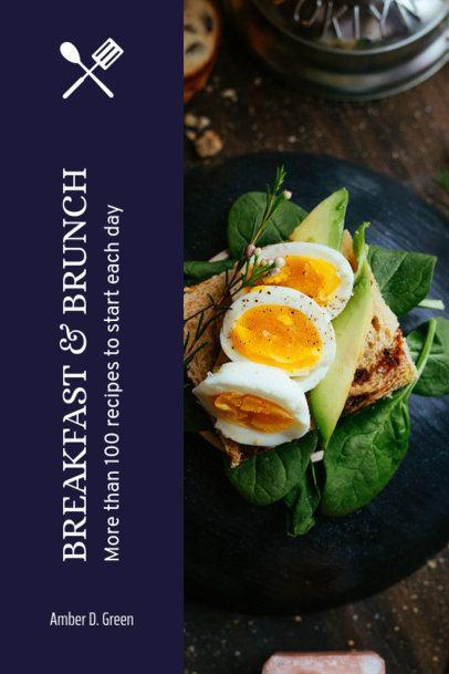 Breakfast and Brunch Recipe Book Cover Maker 913a