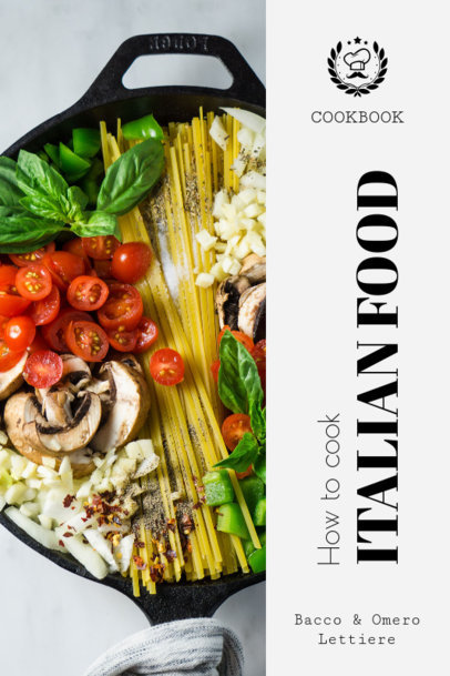 Italian Food Recipe Book Cover Generator 913e