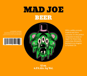 Beer Label Template with Funny Graphic 771c