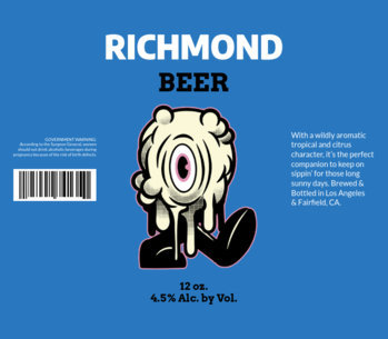 Beer Label Design Template with Funky Graphic 771d