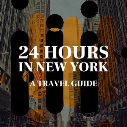 Content Teaser Slideshow Video Maker for an Instagram Travel Guide Video 1060