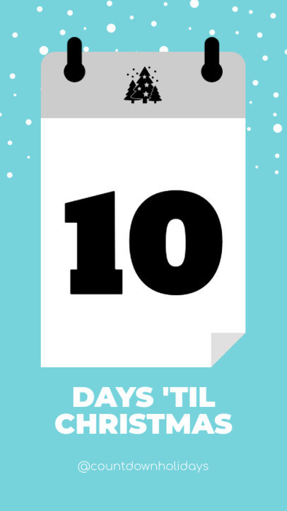 Christmas Instagram Story Maker for a Countdown Post 1000c
