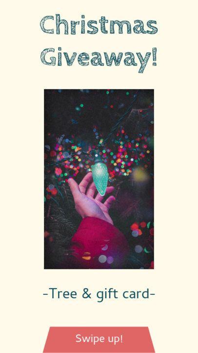Christmas Giveaway Instagram Story Maker 985c
