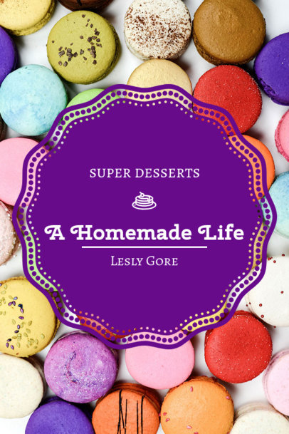 Book Cover Creator for a Dessert Recipe Book 924c