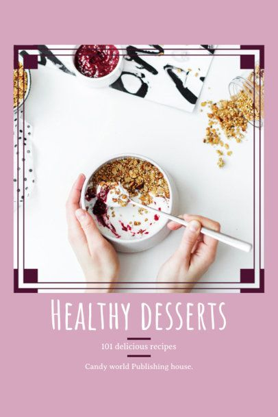 Book Cover Maker for a Healthy Desserts Recipe Book 912c