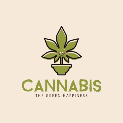 Weed Logo Design Template 1780