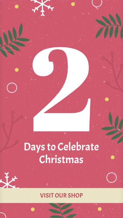 Christmas Instagram Story Maker for a Holiday Countdown 1001b-1819