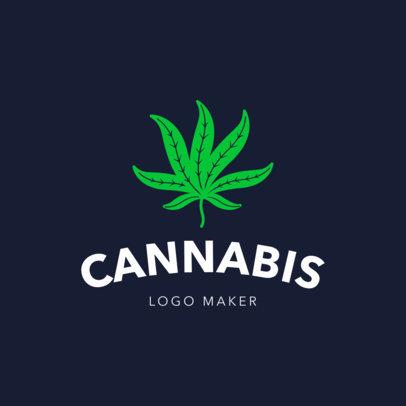 Minimalistic Weed Logo Maker 1778