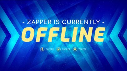 Offline Twitch Banner Template with Dynamic Graphics 981d