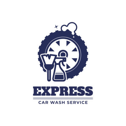 Express Car Wash Logo Maker 1753